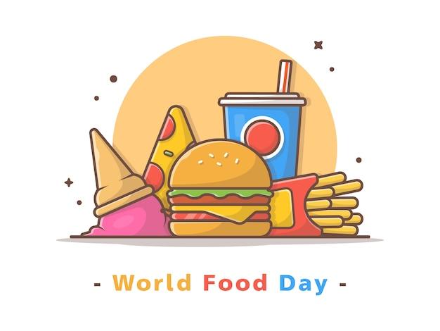 Ilustração em vetor dia mundial da comida
