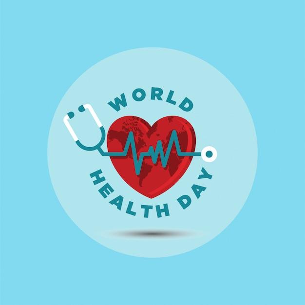 Ilustração em vetor dia mundial da saúde