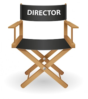Ilustração em vetor diretor filme cadeira