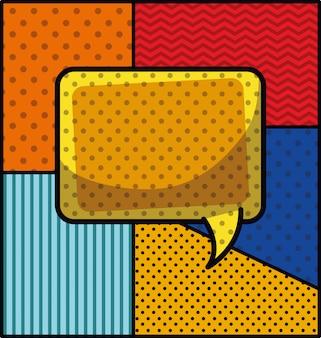 Ilustração em vetor discurso bolha pop art estilo