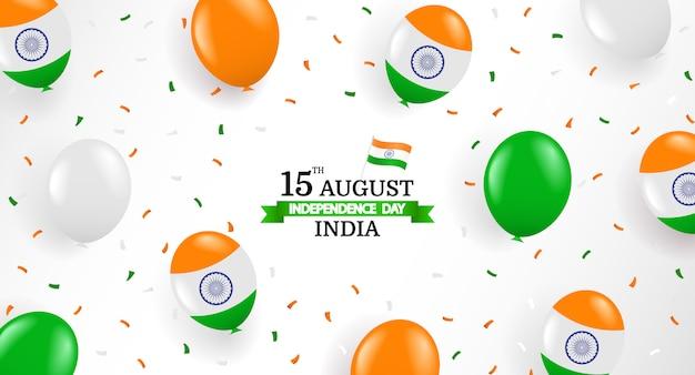 Ilustração em vetor do dia da independência da índia. Vetor Premium