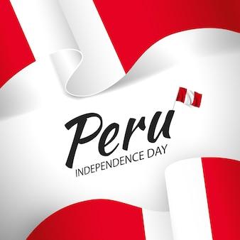Ilustração em vetor do dia da independência do peru