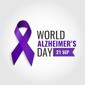 Ilustração em vetor do dia mundial da doença de alzheimer