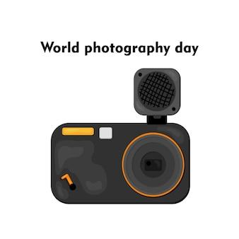 Ilustração em vetor do dia mundial da fotografia - 19 de agosto