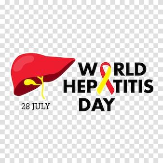 Ilustração em vetor do dia mundial da hepatite