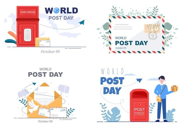 Ilustração em vetor do dia mundial da postagem