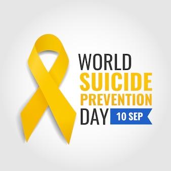 Ilustração em vetor do dia mundial da prevenção do suicídio