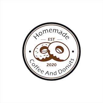 Ilustração em vetor donut logo design padaria