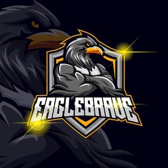 Ilustração em vetor eagle esport logo design template