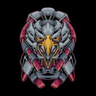 Ilustração em vetor eagle head mecha