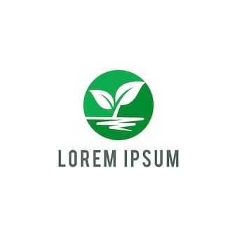 Ilustração em vetor eco logotipo folha modelo