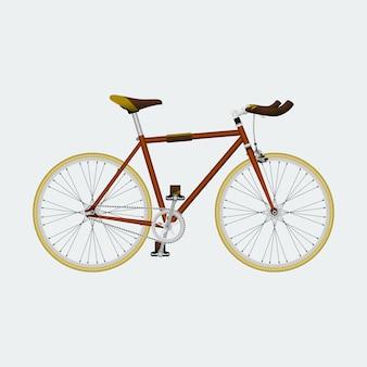 Ilustração em vetor editável fixie bike