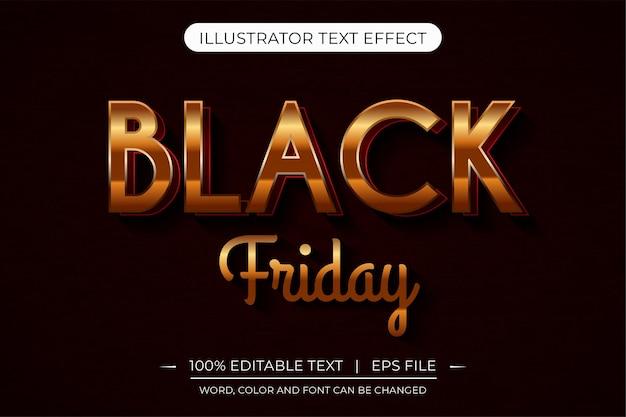 Ilustração em vetor efeito de estilo de texto de texto preto brilhante 3d editável em 3d