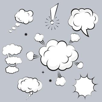 Ilustração em vetor elemento de design de quadrinhos em nuvem