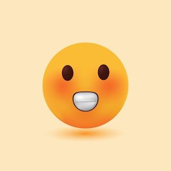 Ilustração em vetor emoji sorridente e realista em 3d