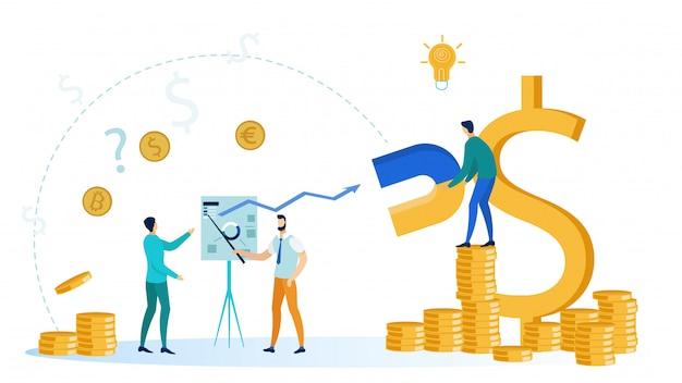 Ilustração em vetor empreendedorismo bem sucedido