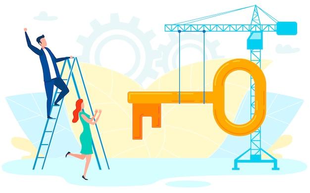 Ilustração em vetor empresa inauguração site