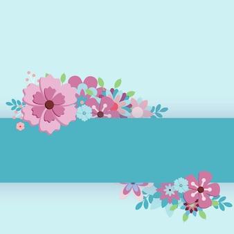Ilustração em vetor eps 10 feliz dia das mães com flores para cartões postais