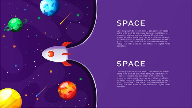 Ilustração em vetor espaço bacgkround