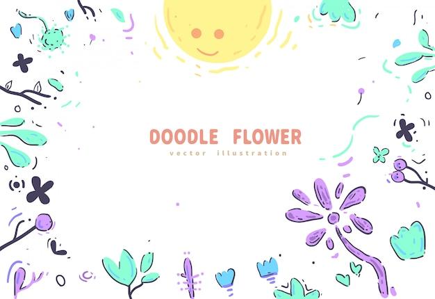 Ilustração em vetor estilo doodles
