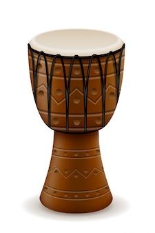 Ilustração em vetor estoque africano tambor instrumentos musicais