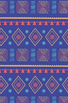 Ilustração em vetor étnico artesanal, tradicional motivo tribal textura decoração fundo