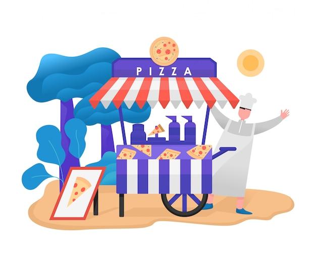 Ilustração em vetor fast-food