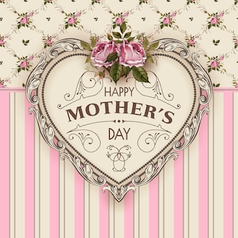Ilustração em vetor feliz dia das mães