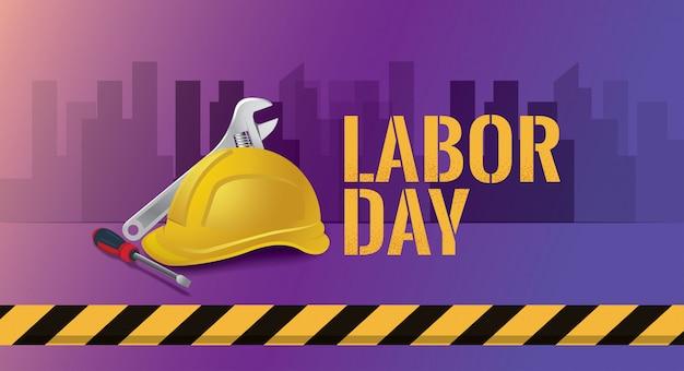 Ilustração em vetor feliz dia do trabalho, 1º pode feriado federal