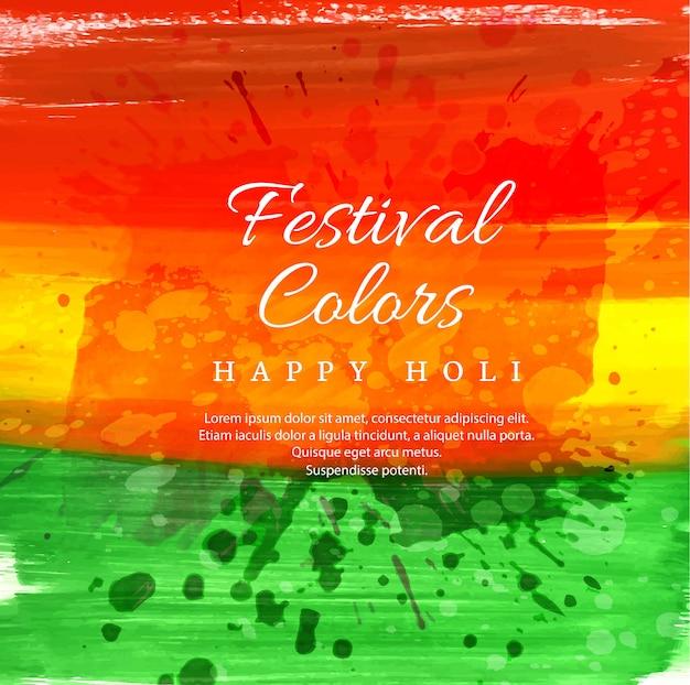 Ilustração em vetor feliz holi com colorido gulal