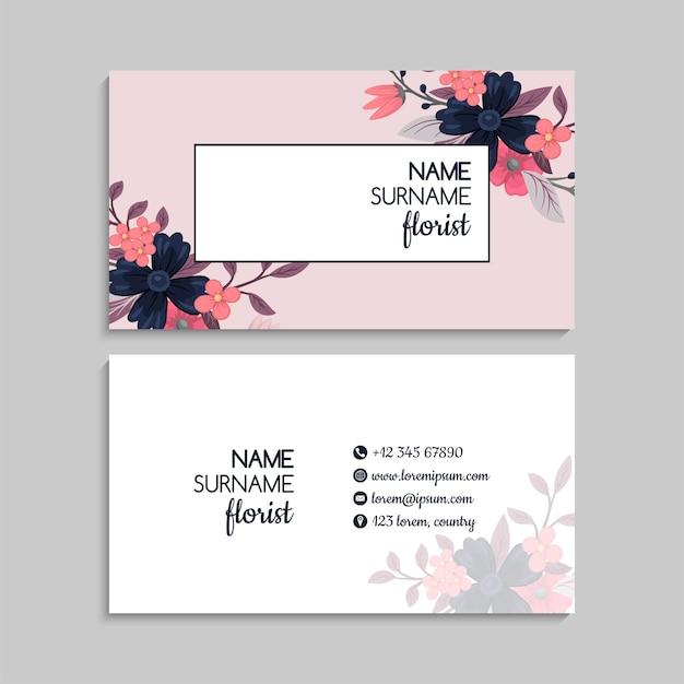 Ilustração em vetor flor cartões de visita flores cor de rosa