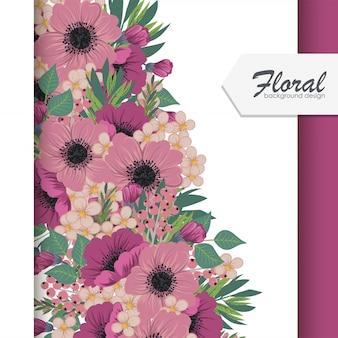 Ilustração em vetor floral fundo
