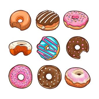 Ilustração em vetor fofo donut