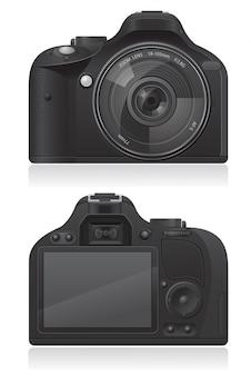 Ilustração em vetor foto câmera