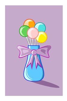Ilustração em vetor frascos de pirulito
