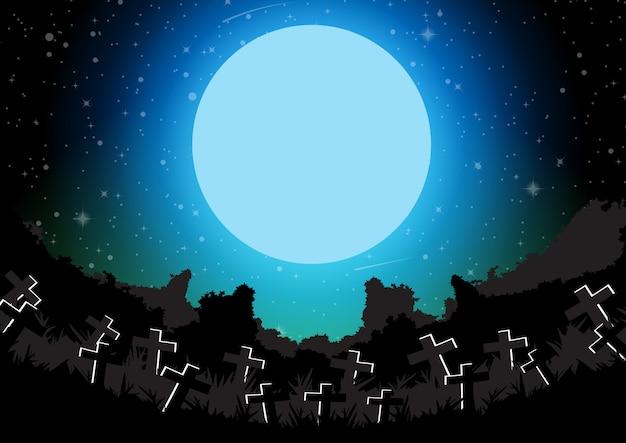 Ilustração em vetor fundo banner halloween