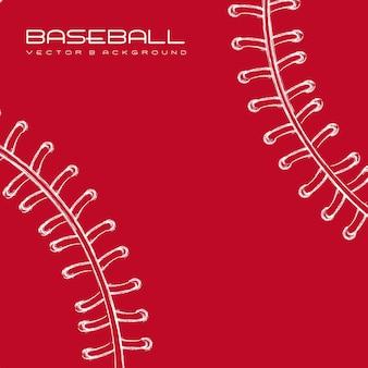 Ilustração em vetor fundo beisebol branco e vermelho