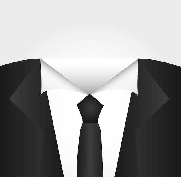 Ilustração em vetor fundo camisa empresário