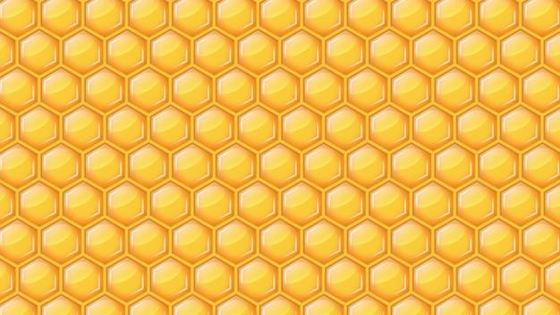 Ilustração em vetor fundo favo de mel