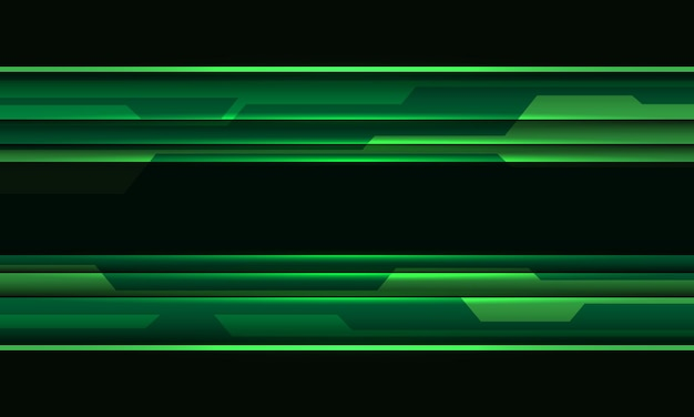 Ilustração em vetor fundo futurista de tecnologia geométrica de circuito cibernético preto abstrato verde.