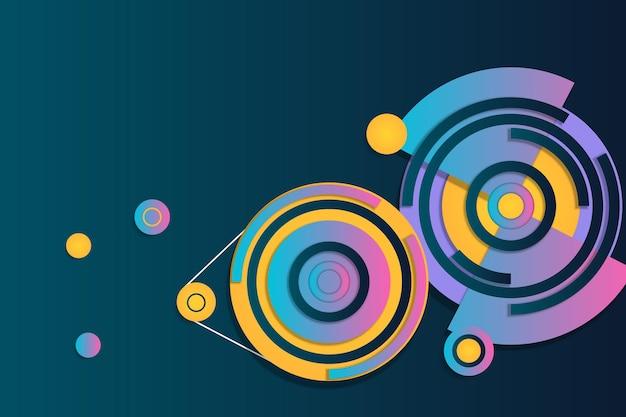 Ilustração em vetor fundo geométrico gradiente colorido