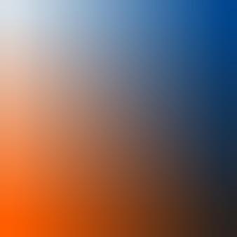 Ilustração em vetor fundo gradiente azul enevoado, ébano, azul meia-noite, laranja vermelha