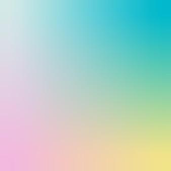 Ilustração em vetor fundo gradiente de hortelã, rosa, turquesa, amarelo