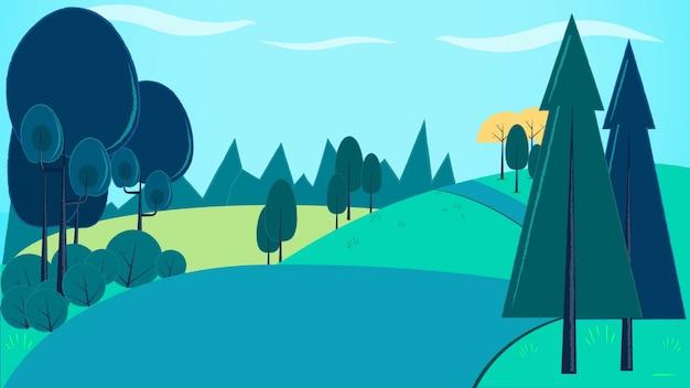 Ilustração em vetor fundo montanha