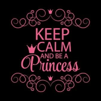 Ilustração em vetor fundo princesa coroa.