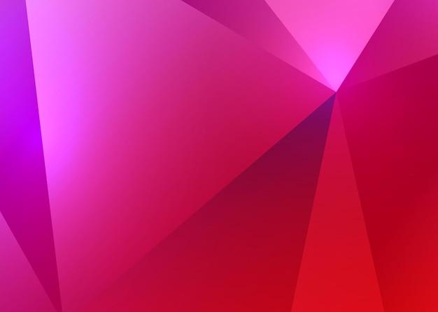 Ilustração em vetor fundo reflexivo rubi brilhante poligonal
