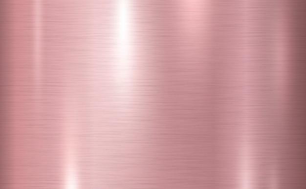 Ilustração em vetor fundo rosa cobre metal textura