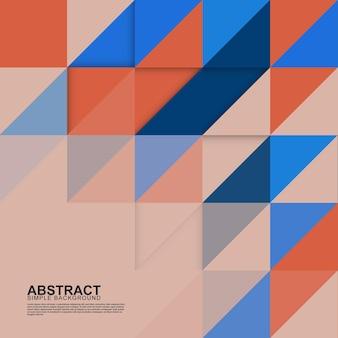 Ilustração em vetor fundo triangular colorido