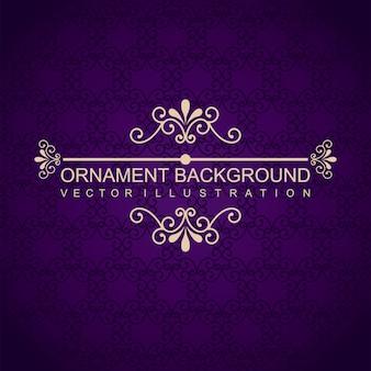 Ilustração em vetor fundo violeta ornamento elegante