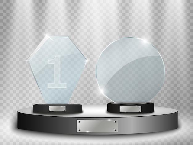 Ilustração em vetor glass trophy award
